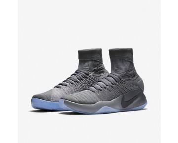 Chaussure Nike Hyperdunk 2016 Flyknit Pour Homme Basketball Gris Foncé/Gris Froid/Platine Métallisé_NO. 843390-002