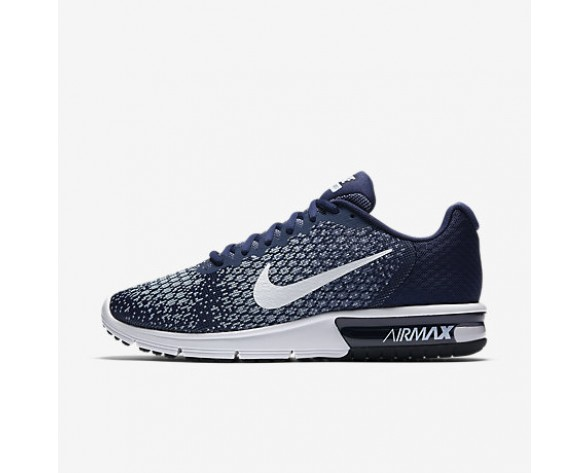 Chaussure Nike Air Max Sequent 2 Pour Homme Lifestyle Bleu Binaire/Bleu Lune/Bleu Arsenal Clair/Blanc_NO. 852461-400