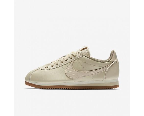 Chaussure Nike Classic Cortez Leather Lux Pour Femme Lifestyle Flocons D'Avoine/Voile/Gomme Marron/Flocons D'Avoine_NO. 861660-100