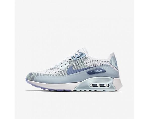 Chaussure Nike Air Max 90 Ultra 2.0 Flyknit Pour Femme Lifestyle Blanc/Bleu Glacier/Bleu Toile/Bleu Arsenal Clair_NO. 881109-105