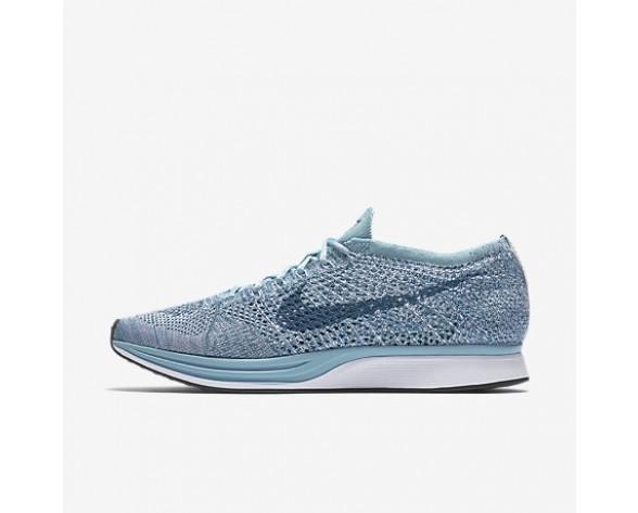 Chaussure Nike Flyknit Racer Pour Femme Running Bleu Mica/Blanc/Bleu Légion_NO. 526628-102
