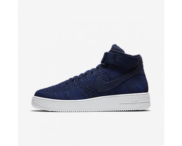 hot sale online c3662 6d2f5 Chaussure Nike Air Force 1 Ultra Flyknit Pour Homme Lifestyle Bleu Marine  Collège Noir Blanc Bleu Marine Collège NO. 817420-401