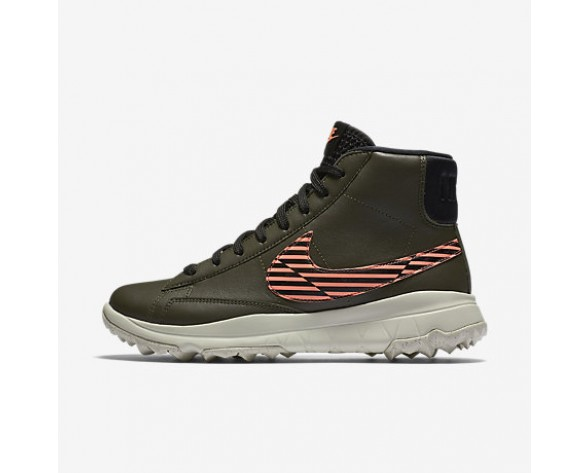 Chaussure Nike Blazer Pour Femme Golf Kaki Cargo/Rouge Lave Brillant/Beige Clair/Noir_NO. 818730-300