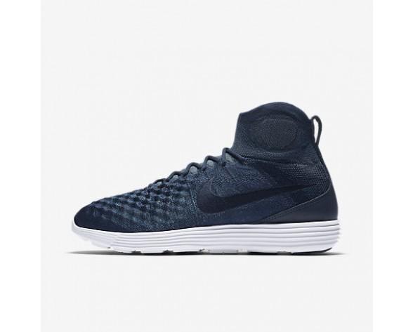 Chaussure Nike Lunar Magista Ii Flyknit Fc Pour Homme Lifestyle Bleu Marine Collège/Pièce D'Or Métallisé/Renard Bleu/Bleu Marine Collège_NO. 876385-400