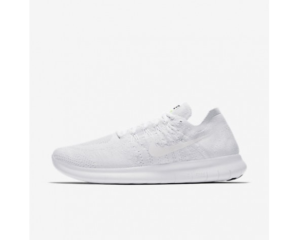 Chaussure Nike Free Rn Flyknit 2017 Pour Homme Running Blanc/Platine Pur/Noir/Blanc_NO. 880843-100