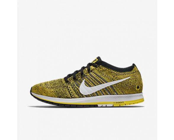 Chaussure Nike Zoom Flyknit Streak Pour Homme Running Jaune Strike/Noir/Blanc_NO. 883299-701