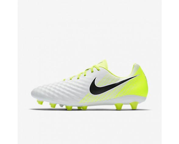 Chaussure Nike Magista Onda Ii Ag Pour Homme Football Blanc/Volt/Platine Pur/Noir_NO. 844419-109