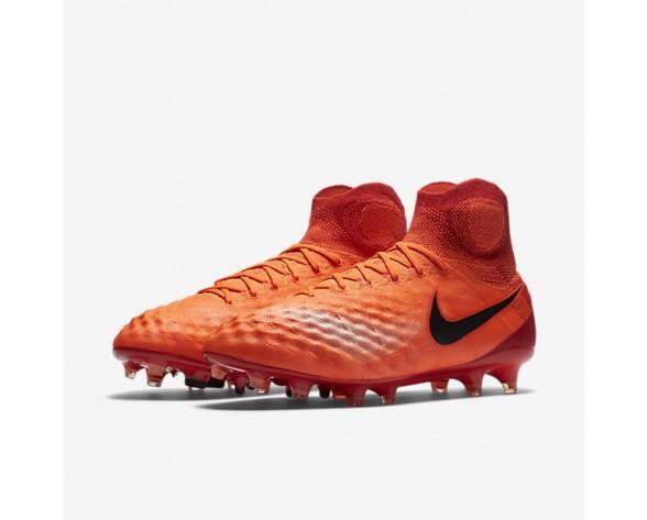 Chaussure Nike Magista Obra Ii Fg Pour Homme Football Cramoisi Total/Rouge Université/Mangue Brillant/Noir_NO. 844595-806
