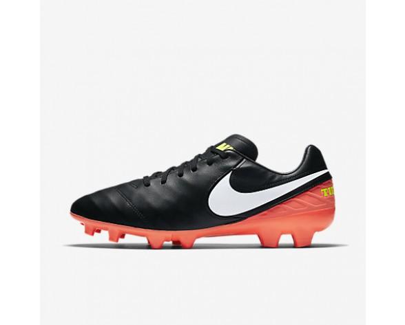 Chaussure Nike Tiempo Mystic V Fg Pour Homme Football Noir/Hyper Orange/Volt/Blanc_NO. 819236-018