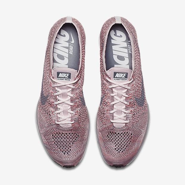online store c5758 4665f Chaussure Nike Flyknit Racer Pour Homme Lifestyle Rose Perle Melon Brillant  Gris Loup . Prix normal   111,76 €