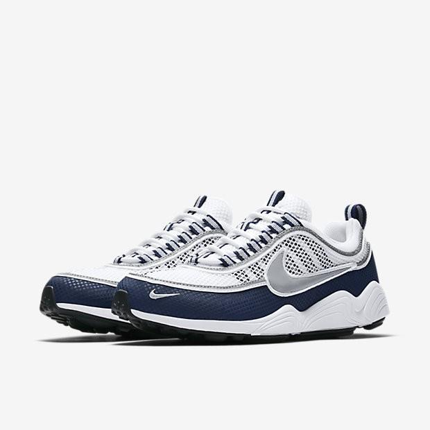 pretty nice dd6a0 3c024 Chaussure Nike Air Zoom Spiridon Pour Homme Lifestyle Blanc Bleu Nuit  Clair Argent NO. 849776-103