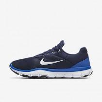Chaussure Nike Free Trainer V7 Pour Homme Fitness Et Training Bleu Binaire/Hyper Cobalt/Noir/Blanc_NO. 898053-400