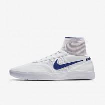 Chaussure Nike Sb Koston 3 Hyperfeel Pour Homme Skateboard Blanc/Bleu Royal Profond_NO. 819673-141