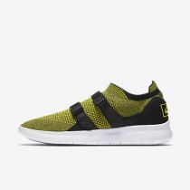 Chaussure Nike Air Sock Racer Ultra Flyknit Pour Homme Lifestyle Jaune Strike/Noir/Jaune Strike_NO. 898022-700