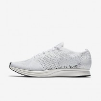 Chaussure Nike Flyknit Racer Pour Femme Lifestyle Blanc/Voile/Platine Pur/Blanc_NO. 526628-100
