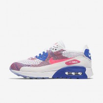 Chaussure Nike Air Max 90 Ultra 2.0 Flyknit Pour Femme Lifestyle Blanc/Bleu Moyen/Melon Brillant/Rose Coureur_NO. 881109-103