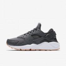 sports shoes 978ce d93d9 Chaussure Nike Air Huarache Se Pour Femme Lifestyle Gris Foncé Jaune Gomme  Blanc