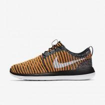 Chaussure Nike Roshe Two Flyknit Pour Femme Lifestyle Noir/Mangue Brillant/Dorure/Blanc_NO. 844929-005