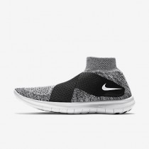 Chaussure Nike Free Rn Motion Flyknit 2017 Pour Femme Running Gris Loup/Noir/Platine Pur/Blanc_NO. 880846-001