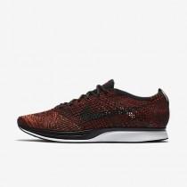 Chaussure Nike Flyknit Racer Pour Femme Running Rouge Université/Mangue Brillant/Noir_NO. 526628-608
