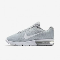 Chaussure Nike Air Max Sequent 2 Pour Femme Running Platine Pur/Gris Loup/Platine Métallisé/Blanc_NO. 852465-007