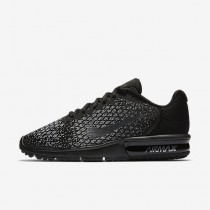 Chaussure Nike Air Max Sequent 2 Pour Femme Running Noir/Gris Foncé/Gris Loup/Hématite Métallique_NO. 852465-010
