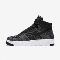Chaussure Nike Air Force 1 Ultra Flyknit Pour Homme Lifestyle Noir/Blanc/Noir_NO. 817420-004