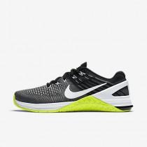 Chaussure Nike Metcon Dsx Flyknit Pour Femme Fitness Et Training Gris Foncé/Volt/Noir/Blanc_NO. 878556-001