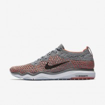 Chaussure Nike Zoom Fearless Flyknit Pour Femme Fitness Et Training Gris Froid/Cramoisi Total/Noir_NO. 850426-003