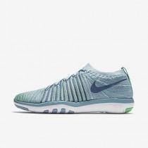 Chaussure Nike Free Transform Flyknit Pour Femme Fitness Et Training Bleu Mica/Vert Electro/Volt/Brouillard D'Océan_NO. 833410-403