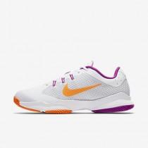 Chaussure Nike Court Air Zoom Ultra Clay Pour Femme Tennis Blanc/Platine Pur/Mauve Vif/Aigre_NO. 845047-100
