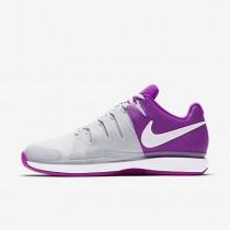 Chaussure Nike Court Zoom Vapor 9.5 Tour Clay Pour Femme Tennis Blanc/Noir/Hyper Orange_NO. 649087-100