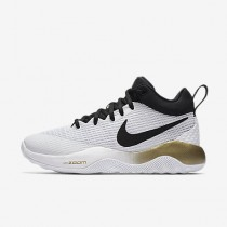 Chaussure Nike Zoom Live Pour Femme Basketball Blanc/Or Métallique/Platine Pur/Noir_NO. 897626-107