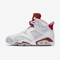 Chaussure Nike Air Jordan 6 Retro Pour Homme Lifestyle Blanc/Platine Pur/Rouge Sportif_NO. 384664-113