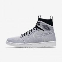 Chaussure Nike Jordan 1 Retro Ultra High Pour Homme Lifestyle Blanc/Noir/Platine Pur/Pièce D'Or Métallisé_NO. 844700-132