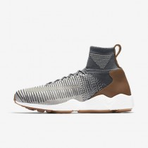 Chaussure Nike Zoom Mercurial Flyknit Pour Homme Lifestyle Gris Foncé/Charbon De Bois Clair/Gomme Marron/Gris Pâle_NO. 844626-003