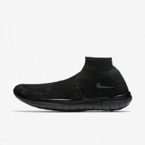 Chaussure Nike Free Rn Motion Flyknit 2017 Pour Homme Running Noir/Anthracite/Volt/Gris Foncé_NO. 880845-003