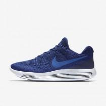 Chaussure Nike Lunarepic Low Flyknit 2 Pour Homme Running Bleu Royal Profond/Bleu Souverain/Bleu Moyen_NO. 863779-400