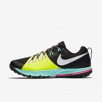 Chaussure Nike Air Zoom Wildhorse 4 Pour Homme Running Noir/Volt/Hyper Turquoise/Blanc_NO. 880565-007