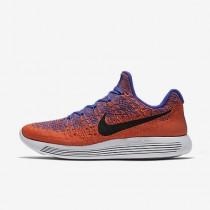 Chaussure Nike Lunarepic Low Flyknit 2 Pour Homme Running Bleu Souverain/Orange Max/Hyper Orange/Noir_NO. 863779-401