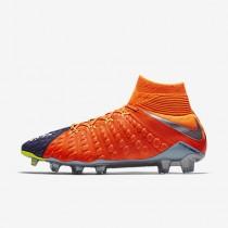 Chaussure Nike Hypervenom Phantom Iii Dynamic Fit Fg Pour Homme Football Bleu Royal Profond/Cramoisi Total/Zeste D'Agrumes/Chrome_NO. 905274-408