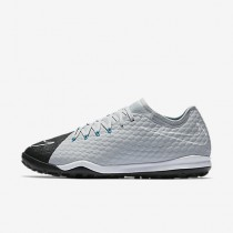 Chaussure Nike Hypervenomx Finale Ii Tf Pour Homme Football Gris Loup/Bleu Chlorine/Noir_NO. 852573-004