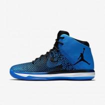 Chaussure Nike Air Jordan Xxxi Pour Homme Basketball Bleu Électrique/Noir/Blanc/Noir_NO. 845037-007