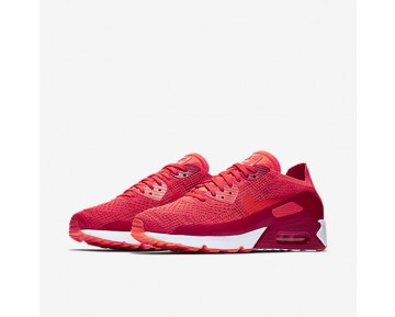 Chaussure Nike Air Max 90 Ultra 2.0 Flyknit Pour Homme Lifestyle Cramoisi Brillant/Rouge Université/Orange Max/Cramoisi Brillant_NO. 875943-600