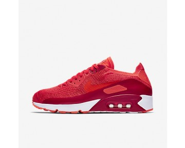 Chaussure Nike Air Max 90 Ultra 2.0 Flyknit Pour Homme Lifestyle Cramoisi Brillant/Rouge Université/Orange Max/Cramoisi Brillant_NO. 875943-600