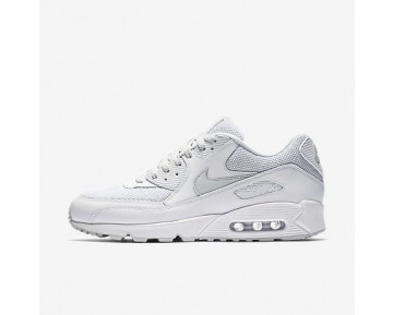 Chaussure Nike Air Max 90 Essential Pour Homme Lifestyle Blanc/Platine Pur_NO. 537384-134
