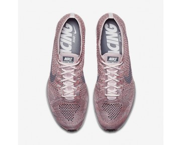 Chaussure Nike Flyknit Racer Pour Homme Lifestyle Rose Perle/Melon Brillant/Gris Loup/Gris Froid_NO. 526628-604