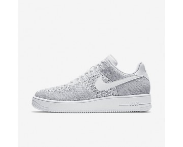 Chaussure Nike Air Force 1 Flyknit Low Pour Homme Lifestyle Gris Froid/Blanc/Blanc_NO. 817419-006