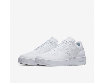 Chaussure Nike Air Force 1 Flyknit Low Pour Homme Lifestyle Blanc/Blanc/Blanc_NO. 817419-101
