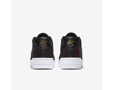 Chaussure Nike Air Force 1 Flyknit Low Pour Homme Lifestyle Noir/Or Métallique/Blanc/Noir_NO. 817419-005